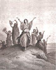 Gustave Doré: jephta's dochter op weg naar haar vader